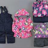 Лыжная термо Куртка и лыжные штаны комбинезон утепленные для девочек Венгрия Размеры 98,104,116,122