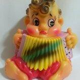 Резиновая игрушка Мальчик с гармошкой Совпластитал Ташкент