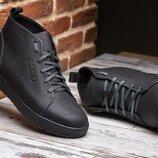 Распродажа Мужские кожаные зимние ботинки Ecco