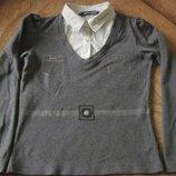 Нарядная, трикотажная блузка на 9-11л. Marines оригинал