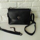 Удобная кожаная сумка, 2 ручки в комплекте