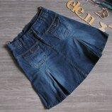 Джинсовая юбка миди размер eur 42