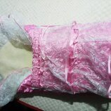 Конверт одеяло на овчине с рюшами на выписку