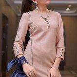 Элегантное стильное платье замша 1126