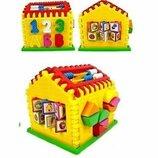 Домик-Сортер, часы, счеты, Kinder Way для малышей