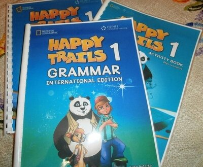 Happy Trails 1, 2 Pupils Book, Grammar Book, Activity Book