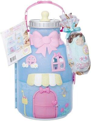 Zapf Домик для пупсов Беби Борн и пупсик сюрприз 917264 Baby Born Surprise Baby Bottle House with 20