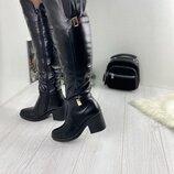 Сапоги женские зимние кожаные