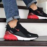 Кроссовки мужские Nike Air Max 270 , черные с красным 8843