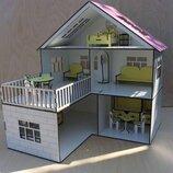 Кукольный домик с мебелью. Домик для лол. Эко игрушки. Эко домик.