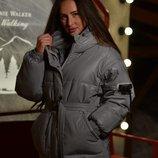 Модная куртка с светоотражающей плащевки Аш3414