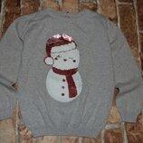 кофта свитер нарядный девочке 5 - 6 лет Primark перевертыш