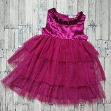 Нарядное платье Baby M&Co на девочку бордо низ фатин