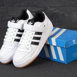 Мужские кроссовки Adidas Forum. White Black