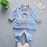 Стильные костюмы тройки для мальчиков