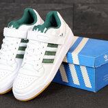 Мужские кроссовки Adidas Forum. White Green.