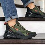 Nike Air Max 270 кроссовки мужские демисезонные темно зеленые 8844