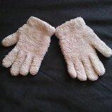Перчатки рукавички варежки белые