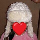 Зимняя шапка на 5-7 лет на меховой подкладке
