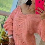 Стильный свитер кофта вязка разные цвета