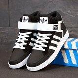 Мужские кроссовки Adidas Varial Mid. Black White.