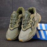 Мужские кроссовки Adidas Ozweego. Green Grey.