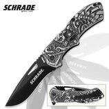 Складной нож от компании Taylor Brands LLC Schrade серия Boneyard модель Lazy Bones SCHA16B оригинал