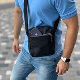 Черная сумка через плечо из эко-кожи