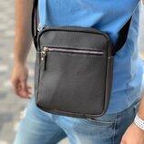 Темно-Серая сумка через плечо из эко-кожи