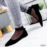Женские замшевые туфли с ремешком