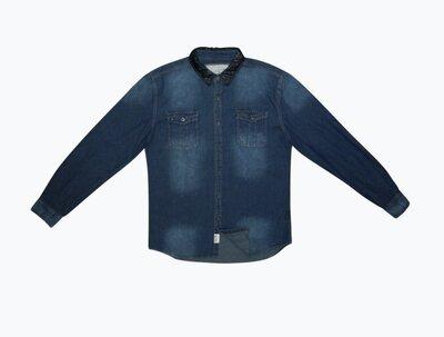 Мужская рубашка синяя джинсовая SOUL STAR & CO L