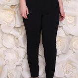женские брюки большого размера, Размерный ряд 50 52 зауженные к низу, сзади два накладных к