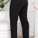 Трикотажные женские брюки супер большого размера Размерный ряд 58, 60, 62, 64, 66, 68, 70, 7