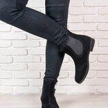 Ботинки натуральная замша, утеплител мех
