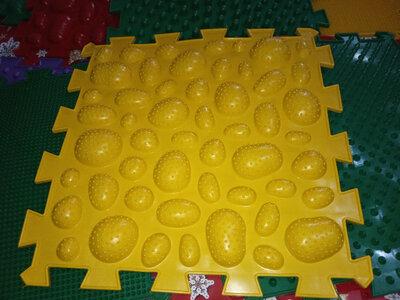 Ортопазл, массажный коврик Морские Камни - 8 пазлов, на подарок -ОК