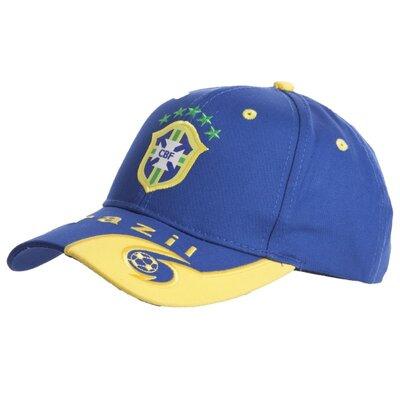 Кепка футбольного клуба Brazil 0798 бейсболка Brazil сине-желтый