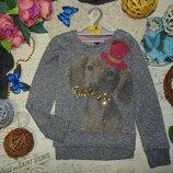 9лет.модный свитшот с мерцанием next.мега выбор обуви и одежды