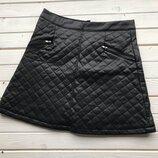 Стеганая юбка из эко кожи Gewenlu размер С