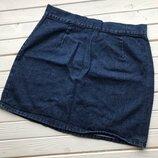 Джинсовая юбка с молнией Denim Co размер М-Л