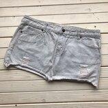 Юбка джинсовая с рванками размер Л