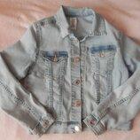 Джинсовый пиджак h&m на 7-8лет
