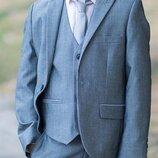 Шикарный новый серый пиджак и жилетка Next на мальчика