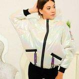 Демісезонна курточка для дівчат підлітків розміри 134-158см