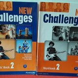 Книга New Challenges 2 Student's book Workbook учебник тетрадь англ