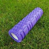 Валик ролик, роллер для йоги Массажер MS 1836-V Violet