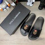 Шлепанцы мужские Dolce Gabbana Saint Barth Black