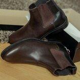 Кожаные люкс качество Челси для мужчин мужские ботинки сапоги