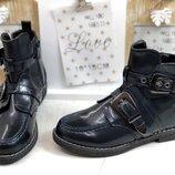 Демисезонные ботинки на девочку черные 32-37р