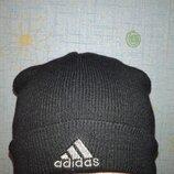 Шапочка Adidas, тонкий двойной трикотаж, оригинал, One Size