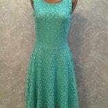 Платье ажурное с подкладкой размер 8-10